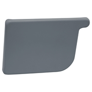 COLORBOND 115mm LH Quad Gutter Stop End - Ironstone