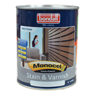 Bondall 1L Monocel Walnut Stain and Varnish