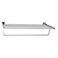 Mondella 625mm Chrome Rococo Towel Rack With Rail/Shelf