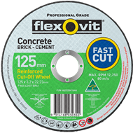 Flexovit 127 x 3.2 x 22.2mm Masonry Cutting Wheel