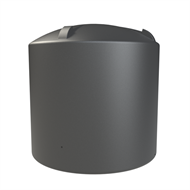 Melro 5500L Poly Round Water Tank - Monument