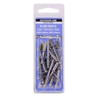 Otter 4.8 x 6.4mm Open Stainless Steel Blind Rivets - 25 Pack