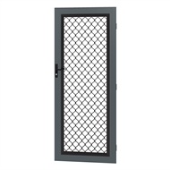 Protector Aluminium 813 x 2032mm Metric Barrier Grille Door - Ironstone