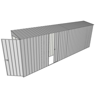 Build-a-Shed 0.8 x 6 x 2m Hinged Door Tunnel Shed with Single Sliding Side Door - Zinc