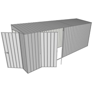 Build-A-Shed 1.2 x 5.2 x 2.0m Zinc Skillion Double Hinged Side Doors Shed - Zinc