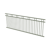 Protector Aluminium 2450 x 900mm Double Top Rail 2 Up 2 Down Fence Panel - Pale Eucalypt