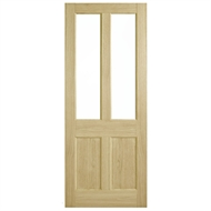 Corinthian Doors 920 x 2040 x 40mm Blonde Oak AWO 7G Clear Glass Entrance Door