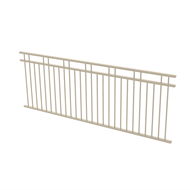 Protector Aluminium 2450 x 900mm Double Top Rail 2 Up 2 Down Fence Panel - Paperbark