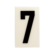 Sandleford 60 x 35mm 7 White Self Adhesive Numeral
