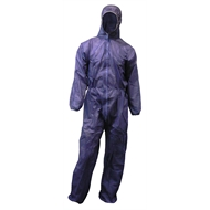 Protector Large Blue Disposable Overalls