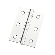Zenith 70mm Polished Chrome Durasmooth Fixed Pin Butt Hinge - Each