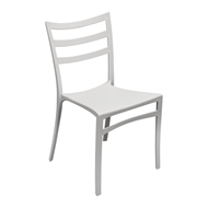 Tusk Living White Lines Café Chair