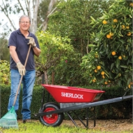 Sherlock 80L Steel Tray Garden Wheelbarrow