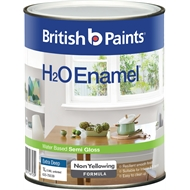 British Paints H2O 1L Semi Gloss Extra Deep Enamel Paint