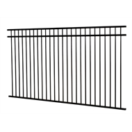 Protector Aluminium 2450 x 900mm Custom Double Top Rail All Up Fence Panel