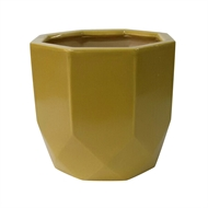 Northcote Pottery 12 x 11cm Mustard Gem Pot