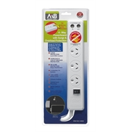 Mort Bay 1.8m 4-Way Powerboard with Surge And Overload Protection