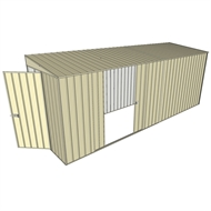 Build-a-Shed 1.5 x 5.2 x 2m Hinged Door Tunnel Shed with Double Sliding Side Door - Cream