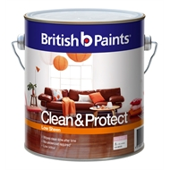 British Paints Clean & Protect 2L Low Sheen Extra Bright Interior Paint