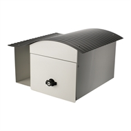 Sandleford White And Grey Epic Post Mount Letterbox
