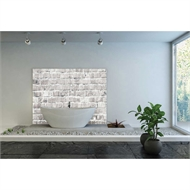 Bellessi 445 x 1200 x 4mm Motiv Textured Polymer Bathroom Panel - White Wall