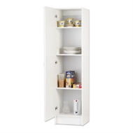 Bedford 450mm White 1 Door Pantry