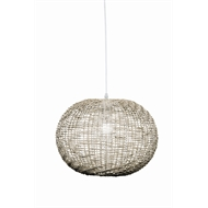 Brilliant 30cm 60W Panama Grey Pendant Light