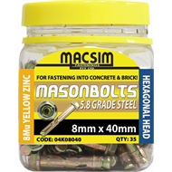 Macsim Fasteners 8 x 40mm Zinc Sleeve Anchor - 35 Pack