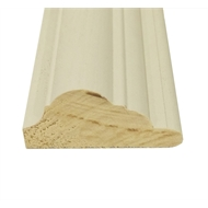 Easycraft 58 x 28mm x 3.6m Primed Pine Flat Dado Rail