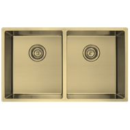 Decorium Light Gold Double Bowl Sink Inset/Undermount