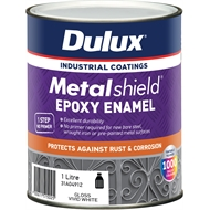 Dulux Metalshield 1L White Base Topcoat Epoxy Enamel Paint