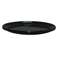 Northcote Pottery Black 'Glazed Look' Round Saucer - 300mm
