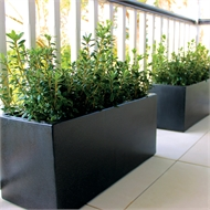 Northcote Pottery 80 x 31 x 36cm Black Precinct Lite Terrazzo Trough