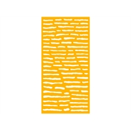 Protector Aluminium 900 x 1800mm ACP Geometric Decorative Panel Unframed - Dark Yellow