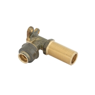 Kinetic 15FL x 15MI x 50mm Brass Flared Lugged Elbow