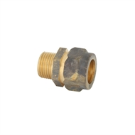 Kinetic 20C x 15MI Brass Male Compression Union