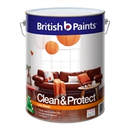 British Paints Clean & Protect 10L Low Sheen Extra Bright Interior Paint