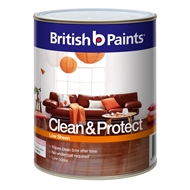 British Paints Clean & Protect 1L Low Sheen Extra Bright Interior Paint