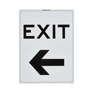 Sandleford 300 x 225mm Exit Left Plastic Sign