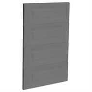 Kaboodle 450mm Smoked Grey Heritage 4 Drawer Panels