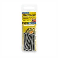 Zenith 8g x 50mm Tufcote Countersunk Ribbed Head Treated Pine Screws - 20 Pack