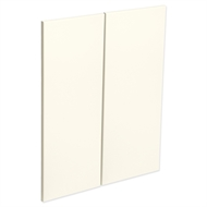 Kaboodle Antique White Modern Corner Wall Cabinet Door - 2 Pack