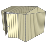 Build-a-Shed 2.3 x 3.0 x 2.3m Gable Double Hinged Side Doors Shed - Cream