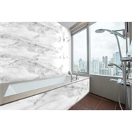 Bellessi 445 x 1200 x 4mm Motiv Textured Polymer Bathroom Panel - Smoke Marble