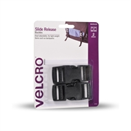 VELCRO® Brand 25mm Black Side Release Buckle - 2 Pack