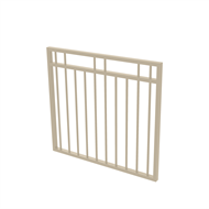 Protector Aluminium 975 x 900mm Double Top Rail 2 Up 2 Down Garden Gate - To Suit Self Closing Hinges - Paperbark
