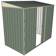 Build-A-Shed 1.2 x 2.3 x 2.0m Zinc Skillion Single Sliding Side Door Shed - Green