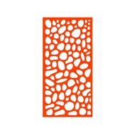 Protector Aluminium 600 x 900mm ACP Riverstone Decorative Unframed Panel - Orange