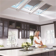 VELUX 550 x 1400mm White Manual Blockout Blind