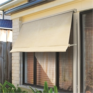 Windoware 2.4 x 2.1m Safari Retractable Fixed Arm Outdoor Awning Blind